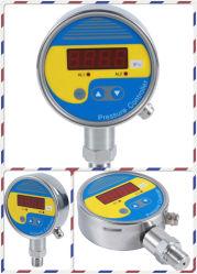 Pantalla LCD del relé de 4-20 mA Interruptor de presión del manómetro de silicio