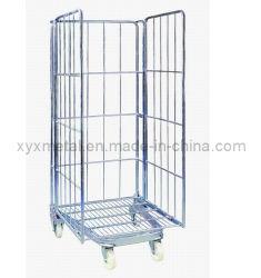 3 lados para dobrar a malha metálica Gabião Roll cage contentor