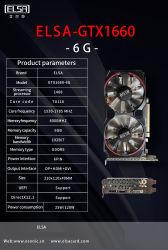 Эльса Nvidia GT710 Gtx1030 Gtx ti1050GTX1060 Gtx1080 Gtx1660 VGA, видеокарта, графическая плата