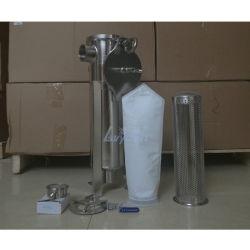 Carrito de la mano de la bomba de aire industriales SS304 316L solo filtro de mangas de 5 micras Cesta de la caja del filtro de acero inoxidable con PP/PE/Filtro de la bolsa de filtro de nylon