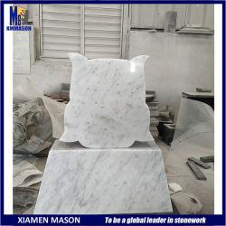 Conception unique Bianco Carrara White Memorial Pierre de cimetière