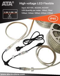AC110/AC220V/AC230V 6mm/8mm/10mm/12mm/13mm/15mm/16mm/20mm AC 고전압 LED 건설 현장용 플렉시블 스트립, 터널, 도로 정비, 나무 조명