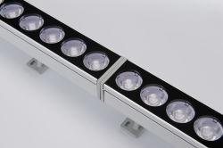 Edificio de arquitectura al aire libre accesorios de iluminación LED lineal de 100W Bañador de pared