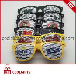 Occhiali da sole dell'autoadesivo di foro di spillo del partito con il marchio personalizzato per il regalo di natale