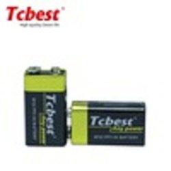 بطارية Zinc-Carbon جافة للخدمة الشاقة 6F22 9 فولت لأجهزة الكشف عن الدخان