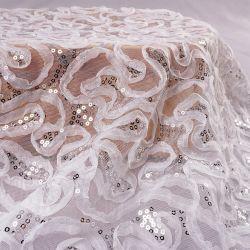 레이스 거즈 웨딩 드레스 직물 속옷 자수, 리본 엠브로이더드 치폰 테이프