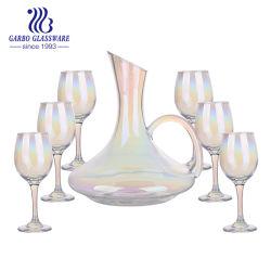 12oz morado de alta calidad chapado en oro de iones de vidrio Stemware Rim (GB08GL3057-DDETJ)
