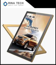 Publicidad de aluminio LED Cartel Marco de broche