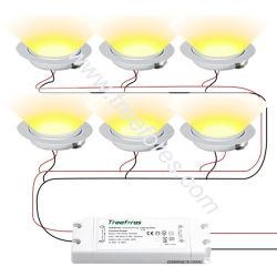 ضوء LED صغير أخضر 3 واط 12 فولت تيار مستمر 55 مم مع 110 فولت إمداد طاقة 220 فولت لتلفزيون DJ Deck Spot Light RoHS CE