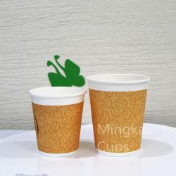 12oz одноразовый набор чашек кофе бумаги с возможностью горячей замены