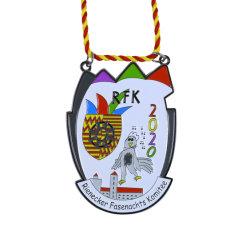 شعار مخصص رخيص Die Cast Iron Hard enamel Medals مع بطاقة شريحة Lanyard NFC (012)