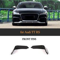 탄소 섬유 정면 안개등 덮개는 Audi Tt RS 2016-2018년을%s 손질을 배출한다