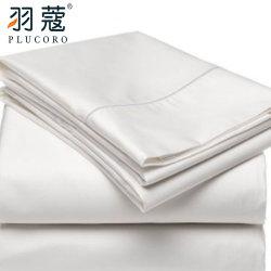 China Fornecedor de algodão branco Sateen Lençol Hotel Luxury Percale Folhas