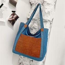 Cina Commercio all'ingrosso Donna denim Borsetta PU&Jean Borsetta Moda Shopping Borsa Bag grande e bella