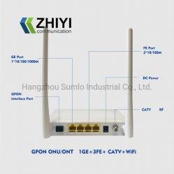 Gpon ONU Ont met 1ge+3fe+CATV+WiFi voor Toegang FTTH FTTX