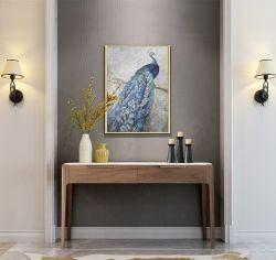 이탈리아 고급 호텔 가구 거실 파티션 캐비닛 대리석 탑 목재 프레임 사이드보드