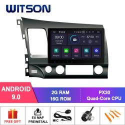 De vierling-Kern van Witson Androïde GPS van de 9.0 Auto DVD voor de Ingebouwde Functie DVR van Honda Civic 2007-2011