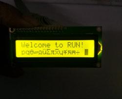 역광선을%s 가진 주문 파란, 황록색 LCM 16X2 특성 LCD 디스플레이 모듈