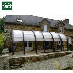 Salle d'aluminium de l'Arc Garden Sun auvent avec panneau de carbonate de polyester