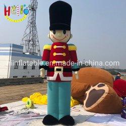 Decoración de Navidad inflable gigante inflable modelo de Soldado de dibujos animados