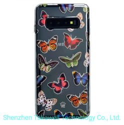 Butterfly marbre Chrome 2.0 Téléphone cellulaire Étui pour iPhone Xr/X/Xsmax/7/7 : plus/8/8plus Samsung S10/S9