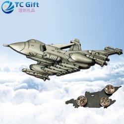 Personalizada de Fábrica 3D logotipo modelo de avião ímã do pavilhão os pinos de lapela Personalizada Arte Metal Produtos de artesanato da Malásia de aeronaves da Polícia Militar Botão uniforme emblemas