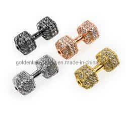 La couleur de cuivre plaqué or rose haltère Zironia cubes pour trouver des Perles Bracelets Boucles d'oreille Collier