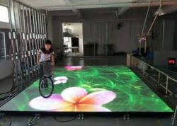 Fase de Shenzhen tela LED LED Interativo Andar Mostrem caso