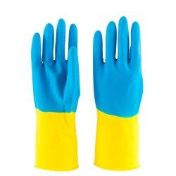 30g Blue-Yellow Hogar Cocina Limpieza de trabajo de seguridad Guantes de látex