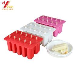 Горячий продавать пользовательские цвета Food Grade кухонных FDA силиконового герметика торт форма/шоколад силиконового герметика Ice Cube в лоток для Bakeware (YB-IC-112)