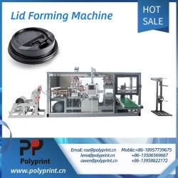 コーヒー紙コップのためのプラスチックPSのふたのThermoforming平らな機械