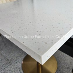 (SP-RT488) Superfície sólida superfícies Corian Stone Café Restaurante Table