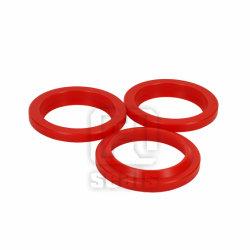 Farben-rote u. grüne hydraulische Robbe, Polyurethan-Wischer-Robben, PU-Staub-Wischer, PU-Gefäß