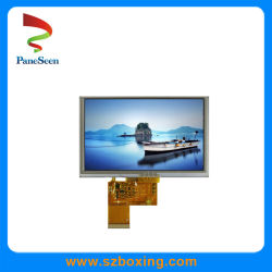 5 LCD van de duim Vertoning met het Weerstand biedende Scherm van de Aanraking en RGB Interface voor VideoTelefoon