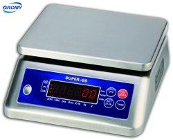 Digital-Tisch der elektronischer Edelstahl-wasserdichter wiegenden Schuppen-IP68, der Schuppe 15kg 30kg zählt