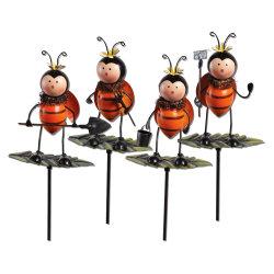 Venda por grosso Ladybug Metal pequenas figuras decorativas participações de Jardim