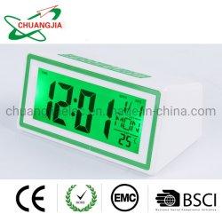 Голосовое управление подсветкой ЖК-цифровые часы с календарем таймер температуры