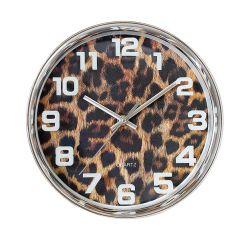 """La ronda de 10"""" de piel de leopardo estilo reloj de pared arte plástico europeo"""