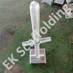 150*150*50*6/38*600mm andaime U macaco ajustável da cabeça do parafuso de andaimes Soild Base de tomada de Base