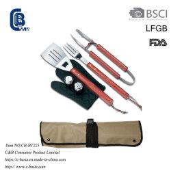 Grill-Hilfsmittel-Set des Gitter-6PCS mit Oxford-Schutzblech tragen Beutel BBQ, der Hilfsmittel grillt