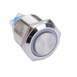 19mm en el Pulsador de metal resistente al agua cierre el interruptor de LED