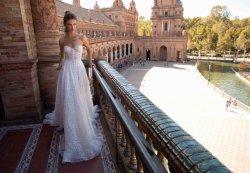 Strapless кружева с использованием стекла линии устраивающих платье свадебные платья