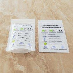 EN 13432 표준의 100% 생분해성 및 콤포스성 식품 패키지 PLA Pbat 스탠드업 파우치