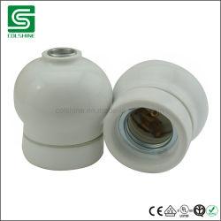 E27 Vintage portalámparas de cerámica de la base de lámpara de porcelana