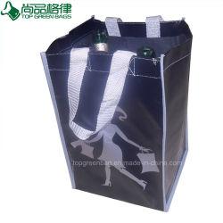6 bouteilles de sacs tissés en pp stratifiés des diviseurs de détenteurs de vin de plastification