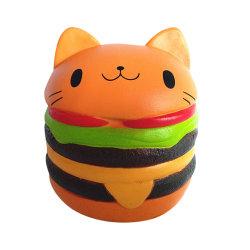 Новые пункты 2020 Хамбюргер Cat Рекламные Сувениры PU Squishy игрушки