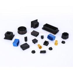 Profil de moulage de plastique fin les bouchons, les tuyaux de tube carré Caps, embouts en plastique pour tube en acier
