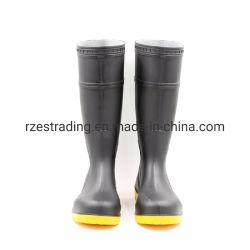 38см водонепроницаемый Маслостойкий стальной пластины схождения защитные ботинки ПВХ
