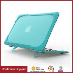 Couvercle de boîtier dur résistant aux chocs avec bouclier TPU & support pliable pour MacBook