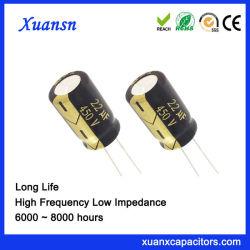 Alta estabilidad 22UF 450 V de condensadores electrolíticos de larga vida